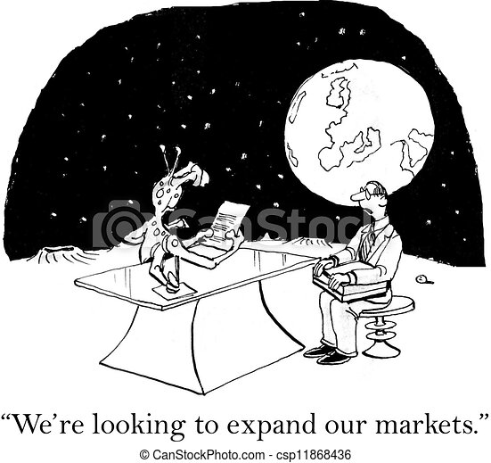 Marketing exec is looking to expand markets - csp11868436
