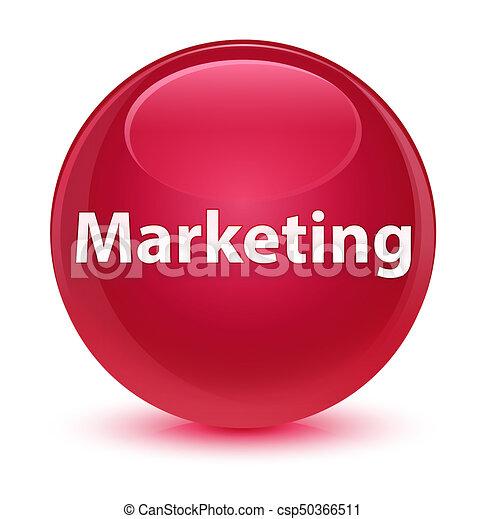 Marketing glassy pink round button - csp50366511