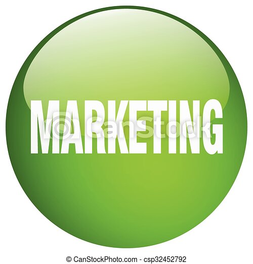 marketing green round gel isolated push button - csp32452792