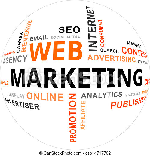 marketing, -, nuvola, parola, web - csp14717702