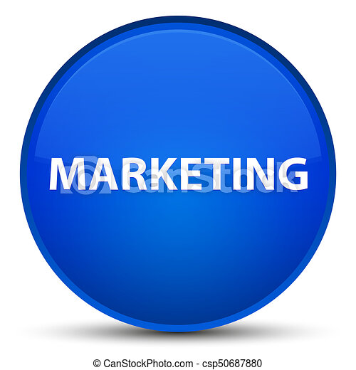 Marketing special blue round button - csp50687880