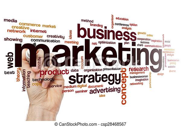 Marketing word cloud - csp28468567