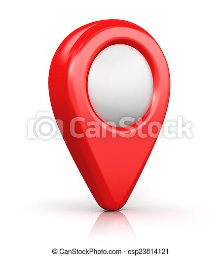 Markierung Auf Der Karte Auf Einem Weissen Hintergrund Lizenzfrei
