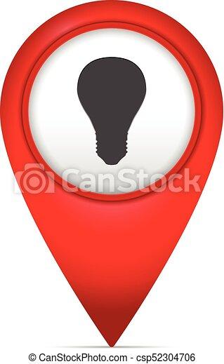 Markierung Landkarte Symbol Zwiebel Landkarte Symbol