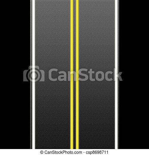 Highway mit Straßenmarkierungen - csp8698711