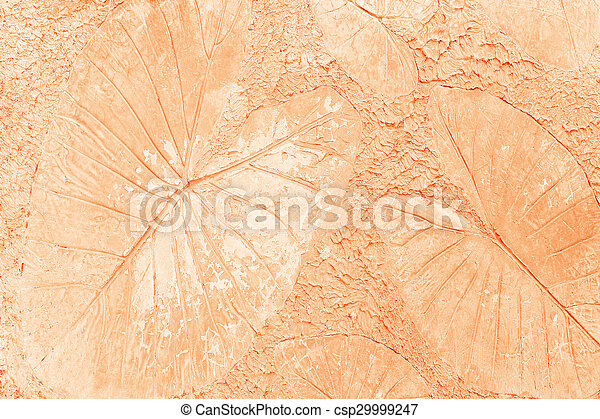 Marks of leaf on the concrete pavement. - csp29999247