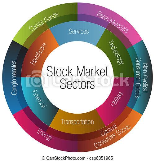 markt, tabelle, sektoren, bestand - csp8351965
