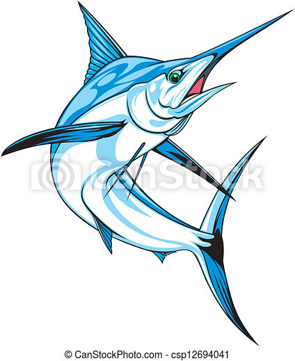 natural blue marlin on the white background rh canstockphoto com