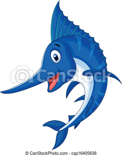 vector illustration of marlin fish cartoon vectors search clip art rh canstockphoto com  swordfish clipart black and white