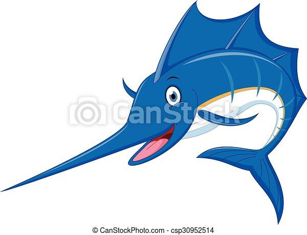 vector illustration of marlin fish cartoon vector clip art search rh canstockphoto ca Blue Fish Clip Art Tuna Fish Clip Art