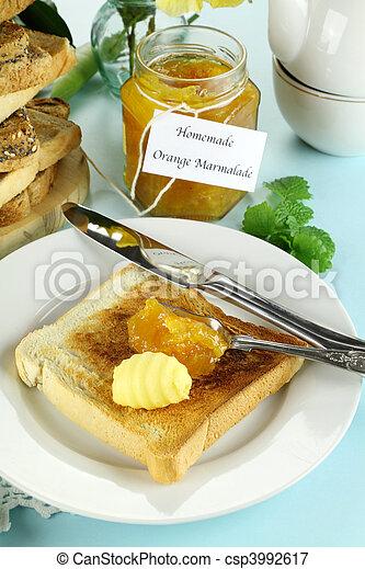 Marmalade On Toast - csp3992617
