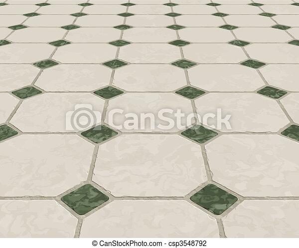 marmo, pavimento pavimentato - csp3548792