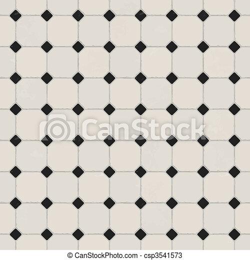 marmo, pavimento pavimentato - csp3541573