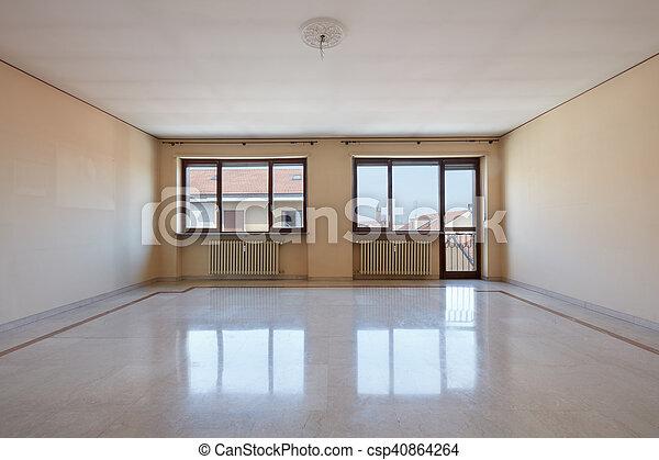 Marmor Wohnzimmer Leerer Boden