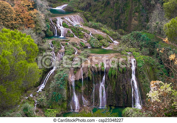 Marmore waterfalls, Italy - csp23348227