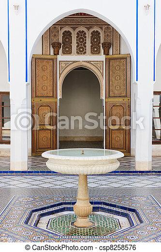 Marocain Patio Marrakech Dar Morocco Palais Bellarj Patio