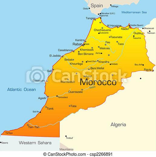 Cartina Marocco Da Colorare.Marocco Paese Mappa Colorare Paese Astratto Marocco Vettore Canstock