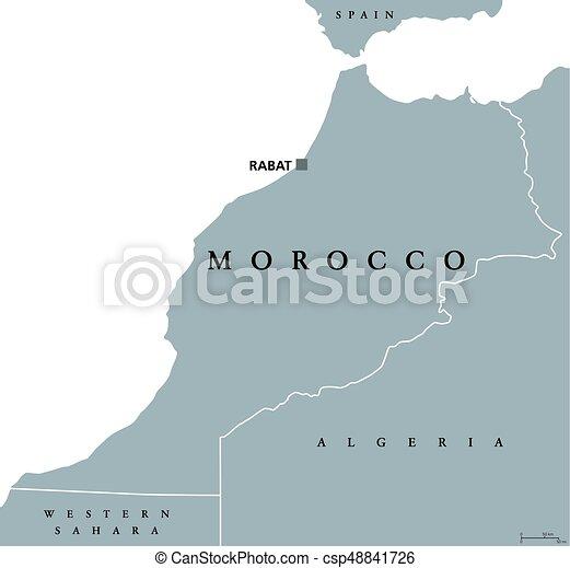 Cartina Marocco Politica.Marocco Politico Mappa Regno Mappa Inglese Nord Maghreb Borders Paese Regione Capitale Politico Isolato Canstock