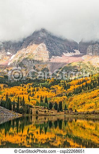 Maroon Bells in Fall - csp22268651