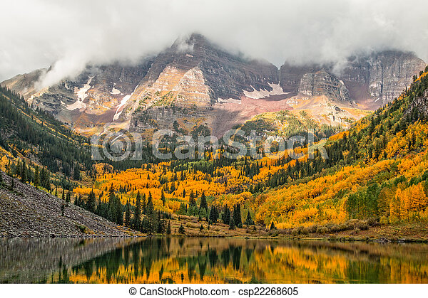 Maroon Bells in Fall - csp22268605