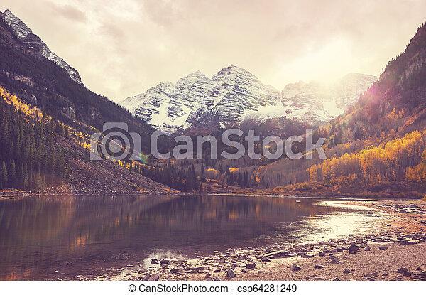 Maroon lake - csp64281249
