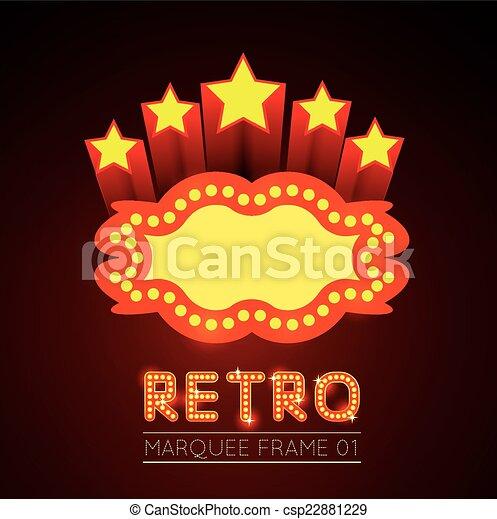 Película en blanco, teatro o marquesina del casino - csp22881229