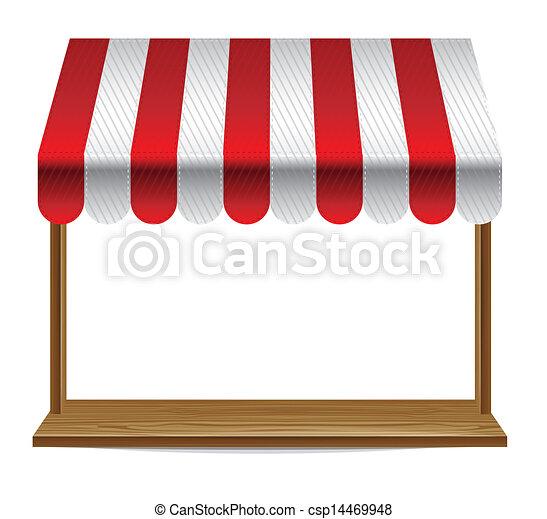 marquise, fenêtre, rayé, magasin - csp14469948
