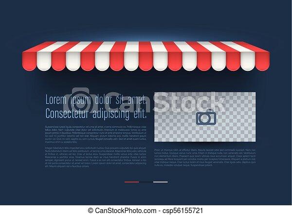 marquise, retro, magasin, banner. - csp56155721