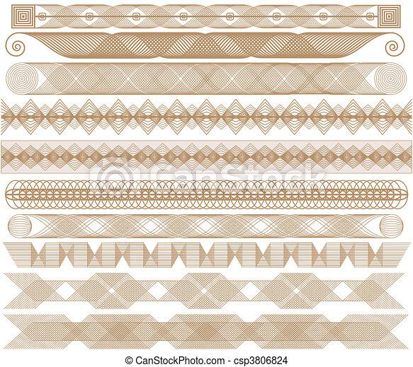Los bordes marrones - csp3806824