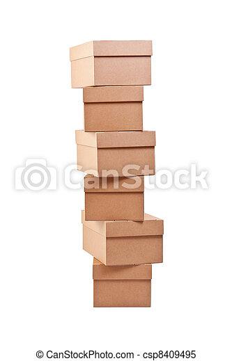 Cajas de cartón marrón - csp8409495