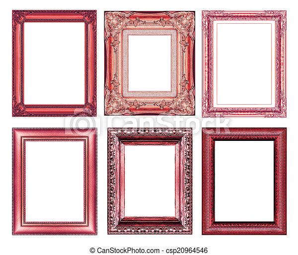 Un marco marrón vintage con espacio en blanco - csp20964546