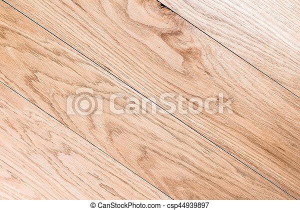 Frame de madera marrón claro con tablones - csp44939897