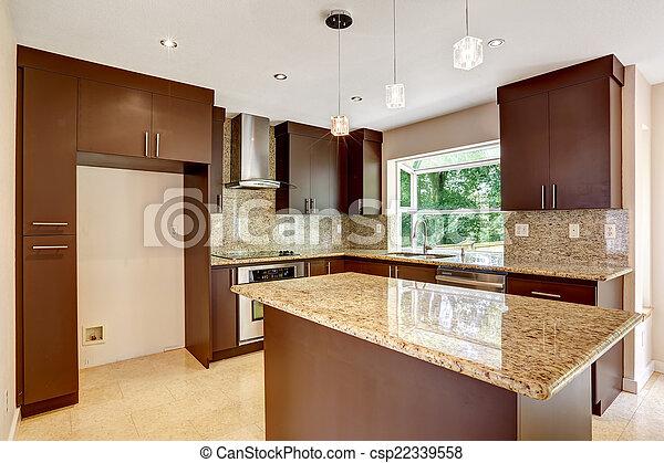 Marr n gabinetes habitaci n moderno mate granito for Gabinetes de cocina modernos