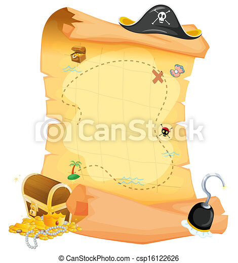 Un mapa del tesoro marrón - csp16122626