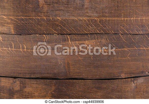 Frame de fondo marrón oscuro con tablones horizontales - csp44939906