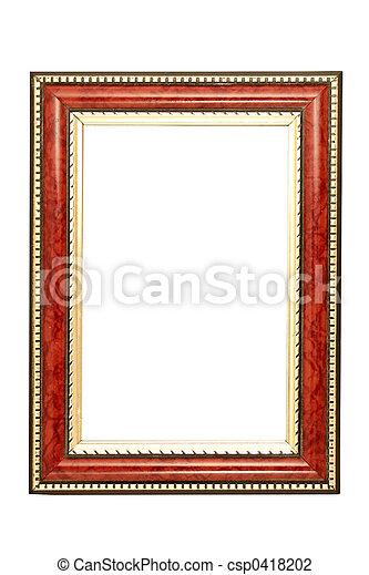 Oro y marco marrón - csp0418202