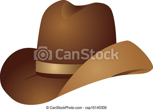 Sombrero vaquero marrón - csp16140306