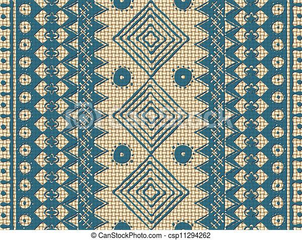 textura étnica marrón - csp11294262