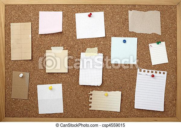 Marr n viejo corcho note papel tabla plano de fondo - Tabla de corcho ...