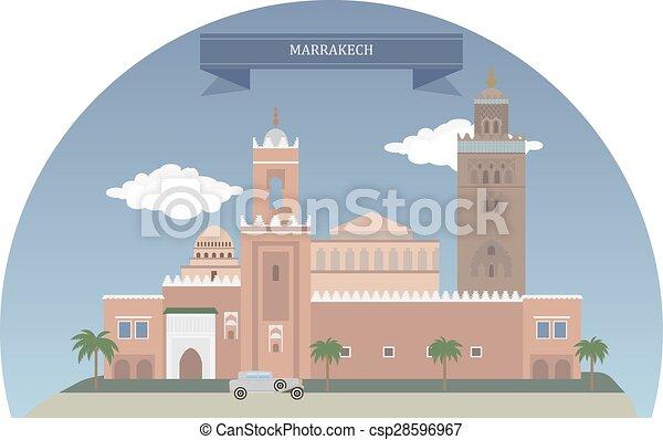 marrakech, モロッコ - csp28596967