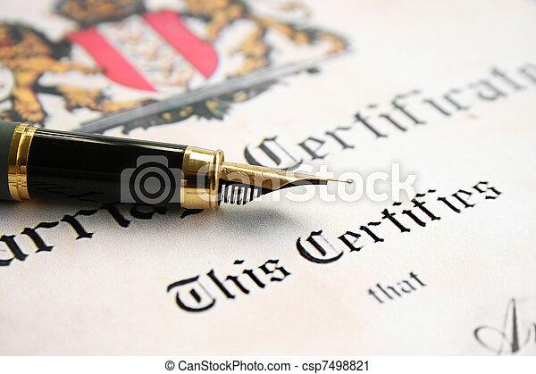 Marriage certificate - csp7498821