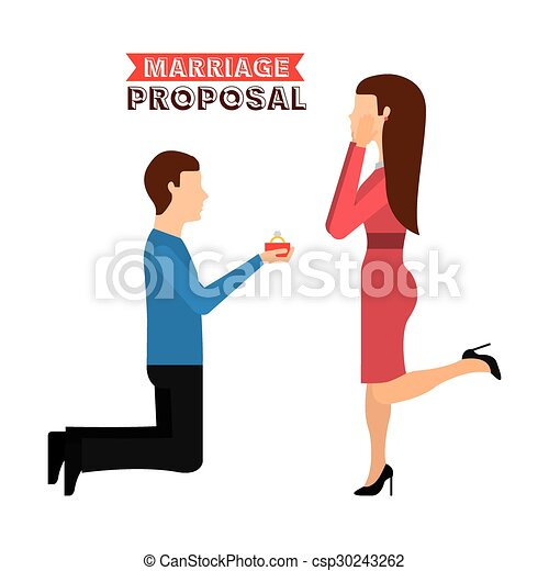 marriage proposal design - csp30243262
