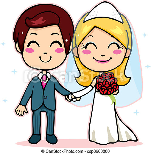 married couple holding hands cute married couple smiling vector rh canstockphoto com marriage clipart marriage clipart