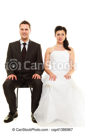 Married couple in wedding day. - csp41386967