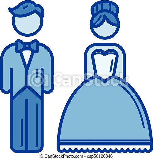 married couple line icon married couple vector line icon eps rh canstockphoto ca wedding couple clipart pictures wedding couple clipart png