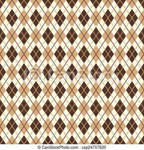 marrom, diamante, -, padrão, infinito - csp24707620