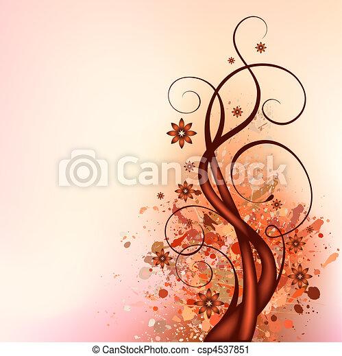 marrom, florescer - csp4537851