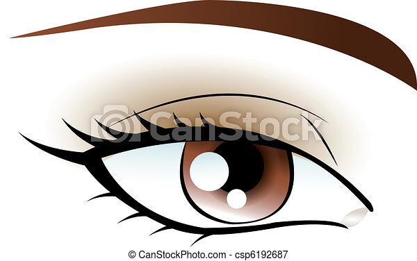 marrom, olho - csp6192687