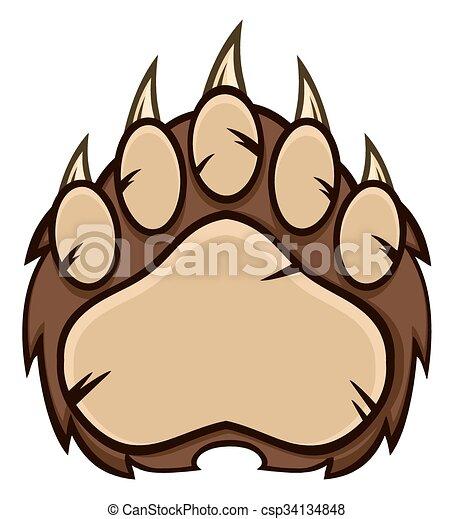marrom pata garras urso marrom claws pata isolado urso