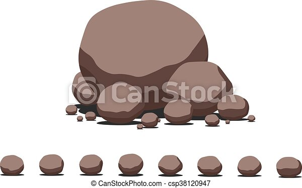 marrom, pedra, apartamento, set., caricatura, decoração, vetorial, template. - csp38120947